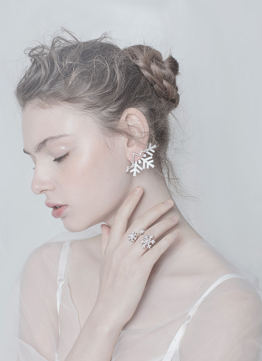 Snow-earing+ring
