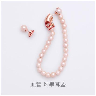 Blood-Vessel-string-beads-earring