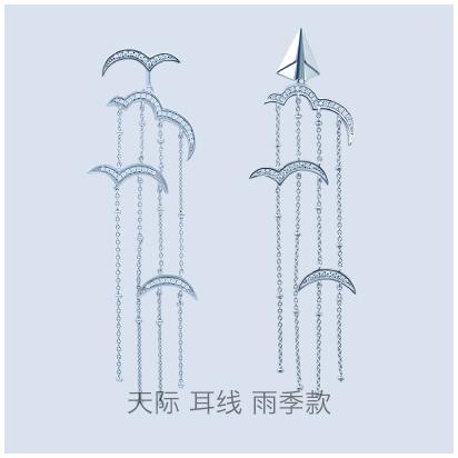 Skyline-raining-earring