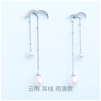 Cloud-drop-earring