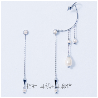 Minute-Hand-auricle-earring